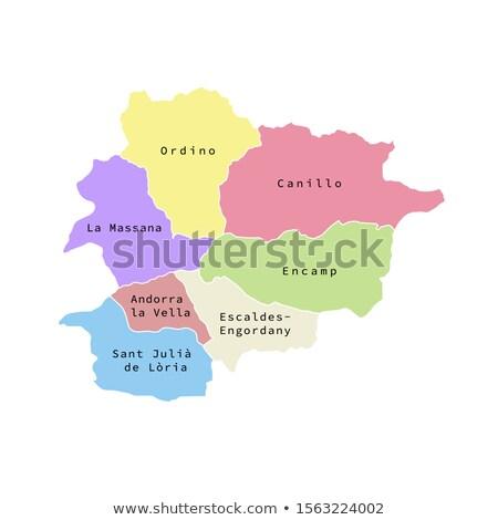 Colorful Andorra map Stock photo © Volina