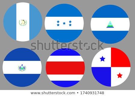 フラグ パナマ コンピュータ 生成された 実例 青 ストックフォト © fresh_7266481