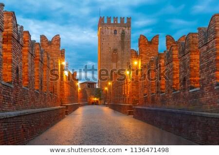 Castelvecchio bridge across the river. Stock photo © rglinsky77