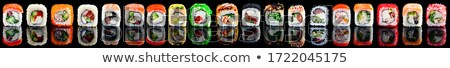 mixte · sushis · rouler · sashimi · alimentaire · noir - photo stock © m-studio