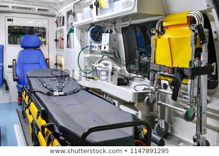 içinde · ambulans · bakım · doktor · acil · durum · kurtarmak - stok fotoğraf © reicaden