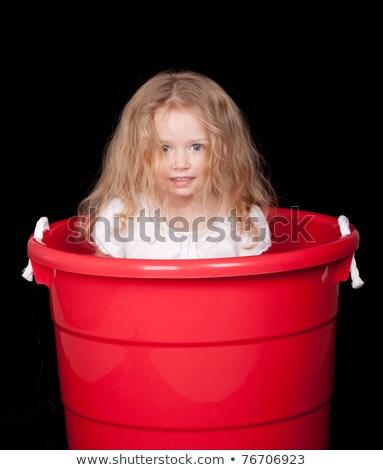 Sarışın kırmızı kız üzgün hayal kırıklığına uğramış kadın Stok fotoğraf © sebastiangauert