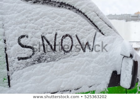 Word Winter written in Snow Stock photo © tepic
