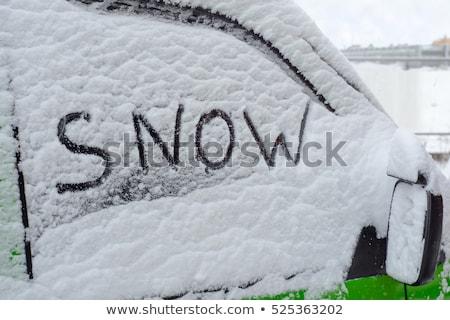 Parola inverno scritto neve nuovo sole Foto d'archivio © tepic