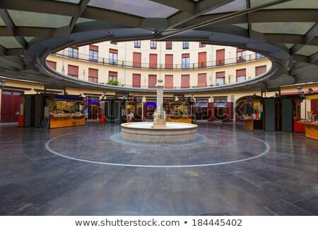 Valencia Plaza Redonda is a round square in Spain Stock photo © lunamarina