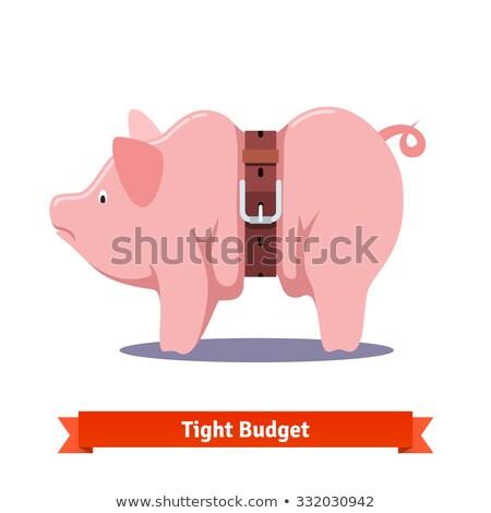 piggy · bank · apertado · cinto · financiar · banco · brinquedo - foto stock © 2nix