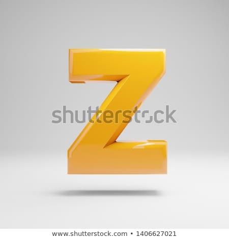 Alphabet on white background. Letter 'Z' Stock photo © Guru3D