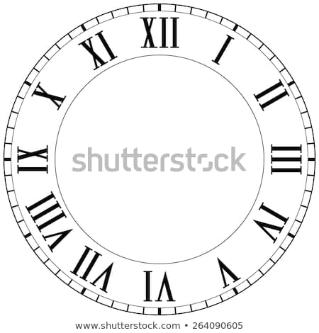 Stock photo: Clock face with Roman numerals
