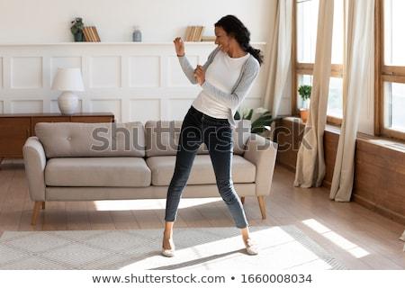 vrouw · zumba · mooie · vrouw · witte · geïsoleerd - stockfoto © monkey_business