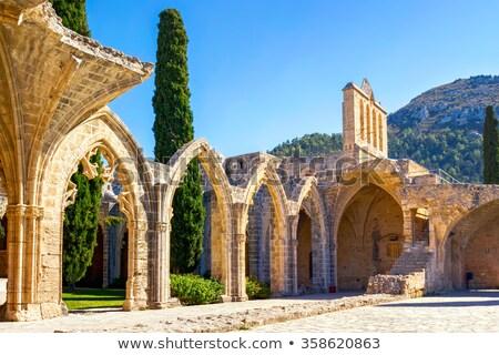 средневековых аббатство Кипр небе дерево стены Сток-фото © Kirill_M