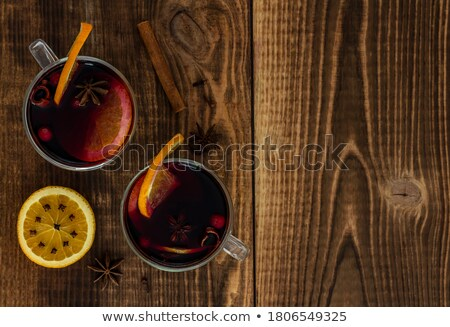 two wine glasses stock photo © karandaev