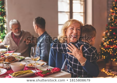 Grandmother enjoying the time with her grandson Stock photo © d13