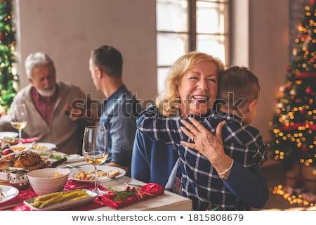 Grand-mère temps petit-fils famille heureuse grand-mère Photo stock © d13