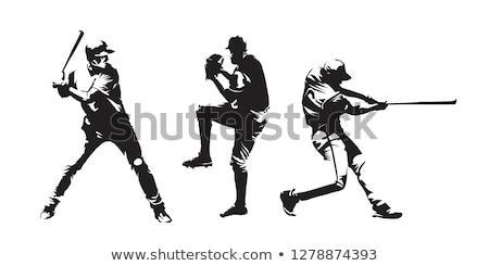 Piłkarz zabawy piłka star sylwetka uruchomić Zdjęcia stock © leonido