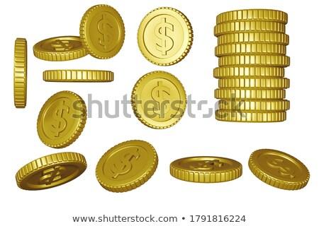 コイン · セット · 写真 · プレゼント · 細部 · 白 - ストックフォト © Dermot68