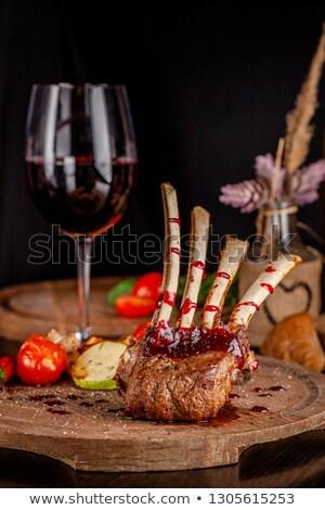 Edény málna vörösbor üveg háttér friss Stock fotó © raphotos