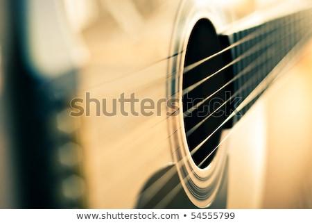 eski · klasik · gitar · siyah · yalıtılmış · müzik - stok fotoğraf © valeriy