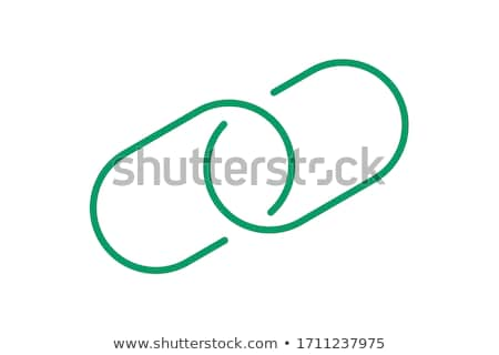ストックフォト: 保護された · リンク · 緑 · ベクトル · アイコン · ボタン