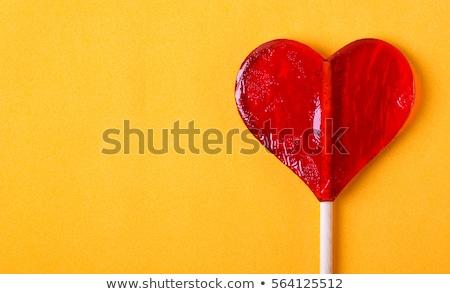 Rood hart twee kleur veel Blauw Stockfoto © Yongkiet