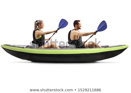 Gray paddle isolated on a white background Stock photo © orensila