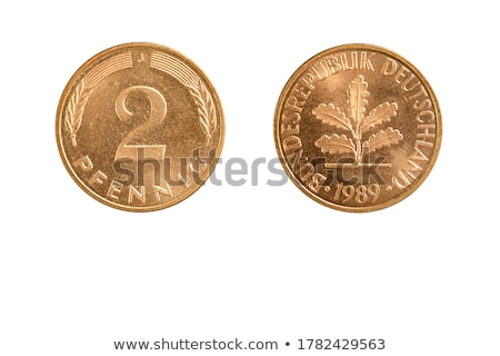 Obverse and Reverse of Two German Coins. Stock photo © tashatuvango
