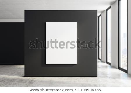 blank frame in art gallery Stock photo © wxin