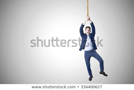 empresário · suicídio · corda · pescoço · isolado · branco - foto stock © hsfelix