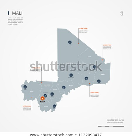orange button with the image maps of Mali Stock photo © mayboro