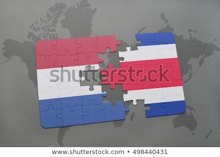 Europese unie Costa Rica vlaggen puzzel geïsoleerd Stockfoto © Istanbul2009