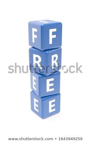 ücretsiz beyaz kelime mavi 3d illustration güvenlik Stok fotoğraf © tashatuvango