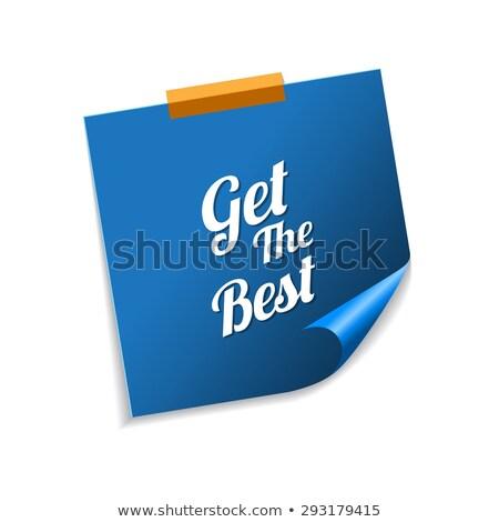 Meilleur bleu sticky notes vecteur icône design Photo stock © rizwanali3d