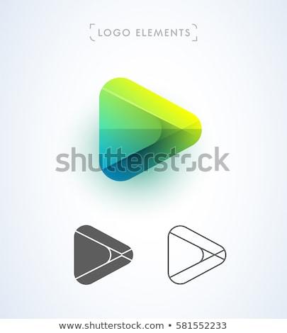 ベクトル · 3D · 開始 · アイコン · 白 · コンピュータ - ストックフォト © blaskorizov