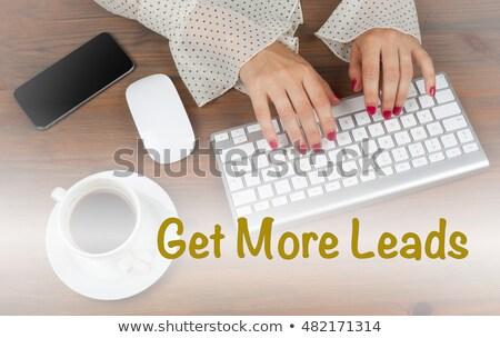 Több iroda dolgozik laptop képernyő hálózat Stock fotó © tashatuvango
