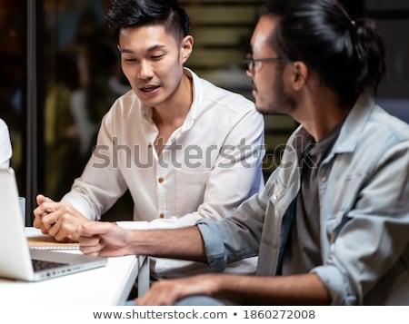 Business Team Hard At Work Stok fotoğraf © vichie81