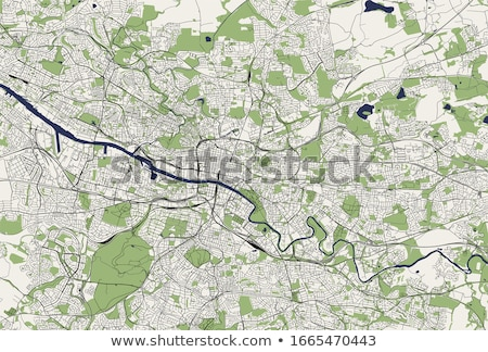 Straßenkarte Glasgow rot Pin Stadt Straße Stock foto © chris2766