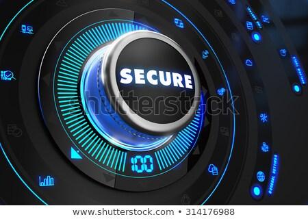 安全 黒 制御 コンソール 青 バックライト ストックフォト © tashatuvango