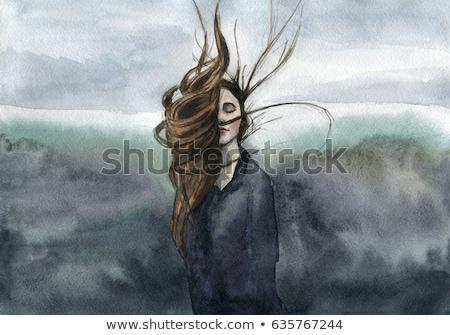 dreamy woman portrait stock photo © anna_om