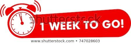 Hafta anlaşma kırmızı vektör ikon dizayn Stok fotoğraf © rizwanali3d