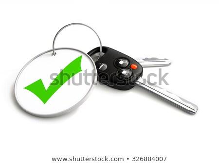 slusszkulcs · elismert · szimbólum · kulcstartó · jármű · pénzügy - stock fotó © crashtackle