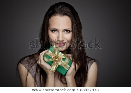 Fagyos karácsony ajándékok fenyőfa ág fa Stock fotó © HASLOO