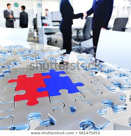 Contrat puzzle lieu manquant pièces texte Photo stock © tashatuvango