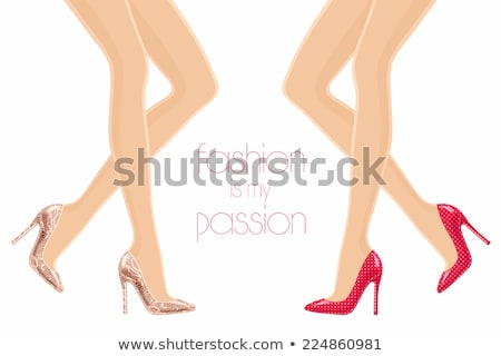 Female legs with red heels Stock photo © deandrobot