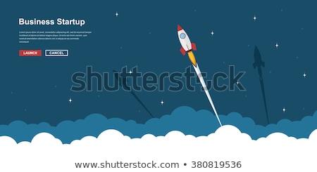 Rakéta repülés felhők terv füst űr Stock fotó © ayaxmr