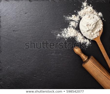 麺棒 · カバー · 小麦粉 · 黒 · ツール · オブジェクト - ストックフォト © neirfy