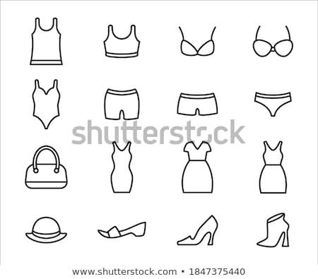 Buttons with sets of bikini wears Stock photo © bluering