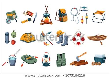 pesca · hobby · actividad · establecer · peces · lago - foto stock © bluering