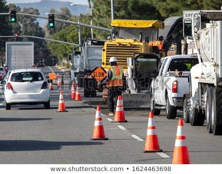 Safety traffic hats Stock photo © bluering