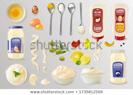 Open bottle for mustard or mayonnaise Stock photo © magraphics