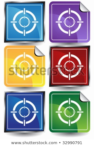 Sniper Scope Target Colorful Set Stock photo © LironPeer