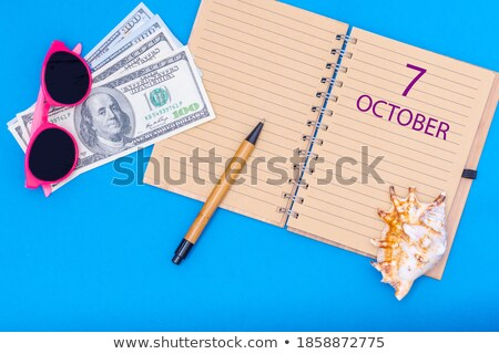 Save the Date written on a calendar - October 7 Stock photo © Zerbor